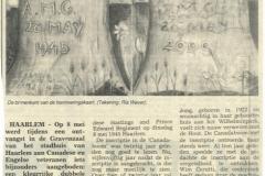 2000 Bijzonder herinneringsgeschenk voor Canadese bevrijders