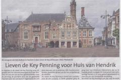 Lieven de Key Penning voor Huis van Hendrik