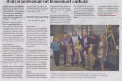 Hildebrandmonument binnekort onthuld 28 aug 2014