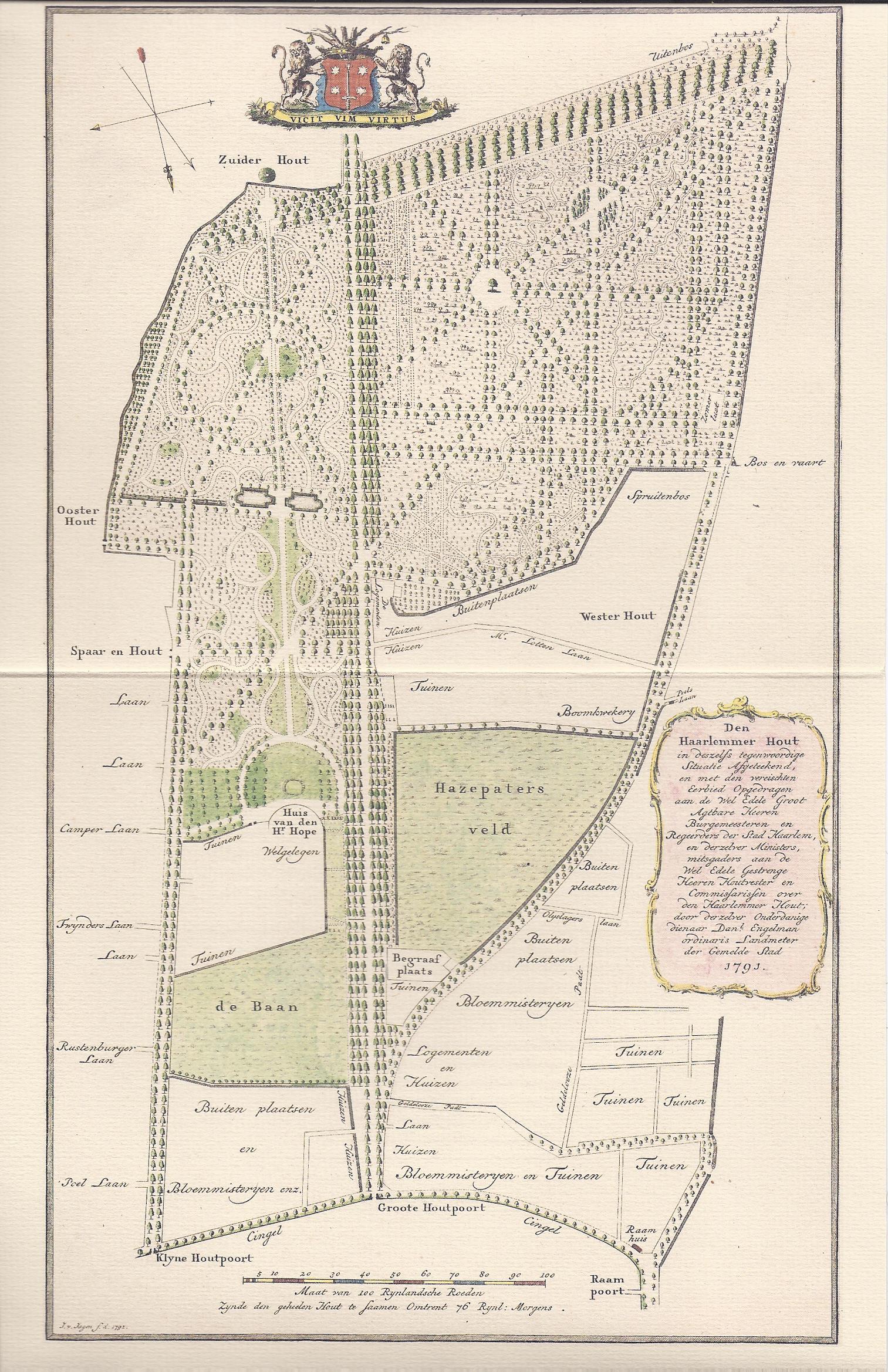 haarlemmerhout-oude-kaart